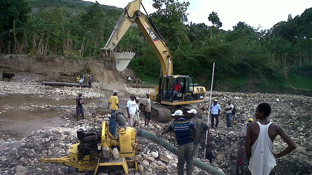 Renovation of three municipal water distribution